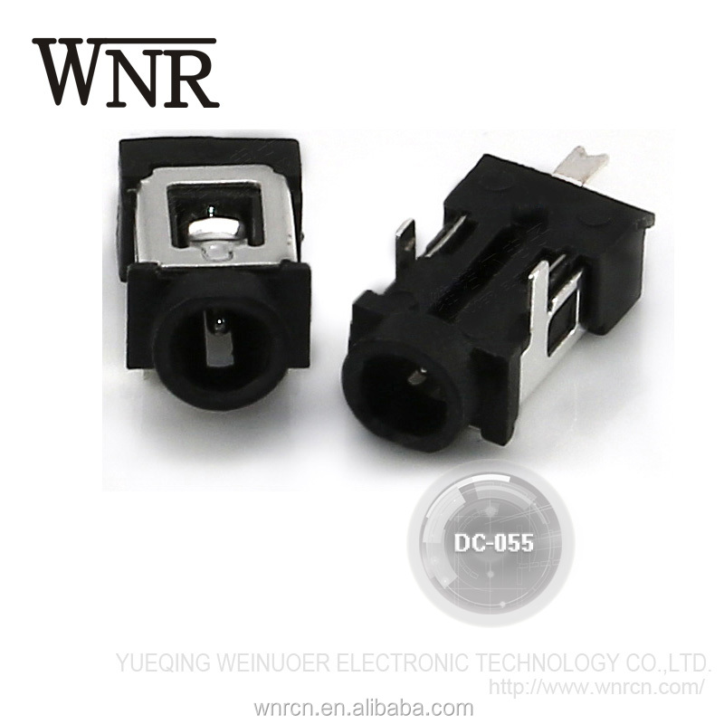 Factory sale good quality electronic adapter power socket,3 pin DC power jack DC-055