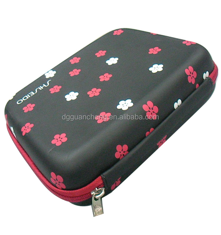 GC-Molded package flower printing EVA plastic box eva makeup case