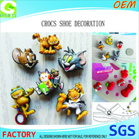 Customized names and logo label lovely soft pvc rubber button crocs clog shoe charms