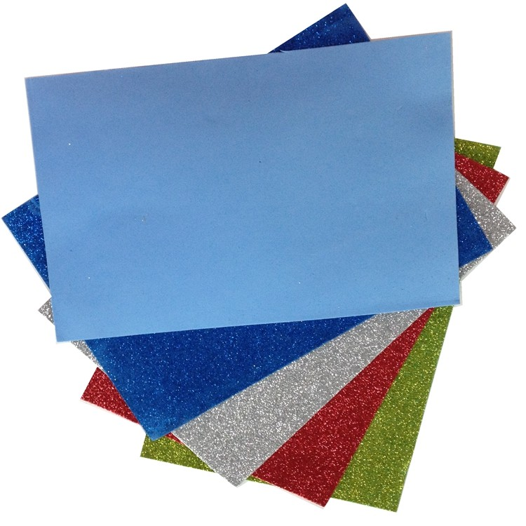 fully stock glitter powder eva foam sheet for crafts