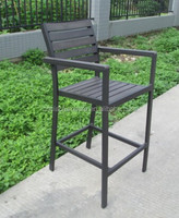 F- modern outdoor garden plastic wood bar chair ( CF1052C-1)
