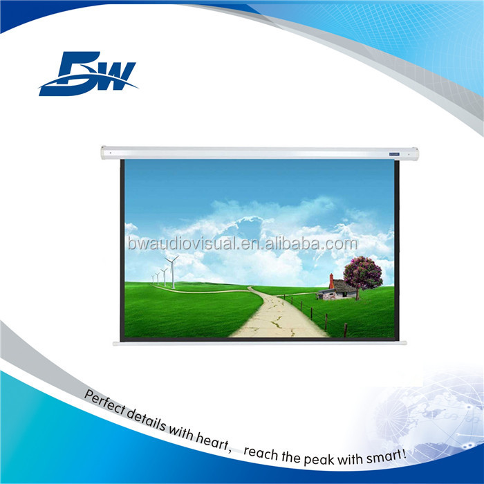 BW Tubular Motor Rear Projection Electric Screen/Motorized Control 150 Inch Projector Screen