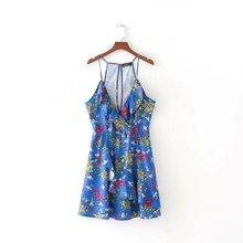 Wholesale Personality Printed Harness Dress