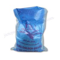 Discount ordinary plain transparent plastic pp woven rice bag/sack 25kg 50kg