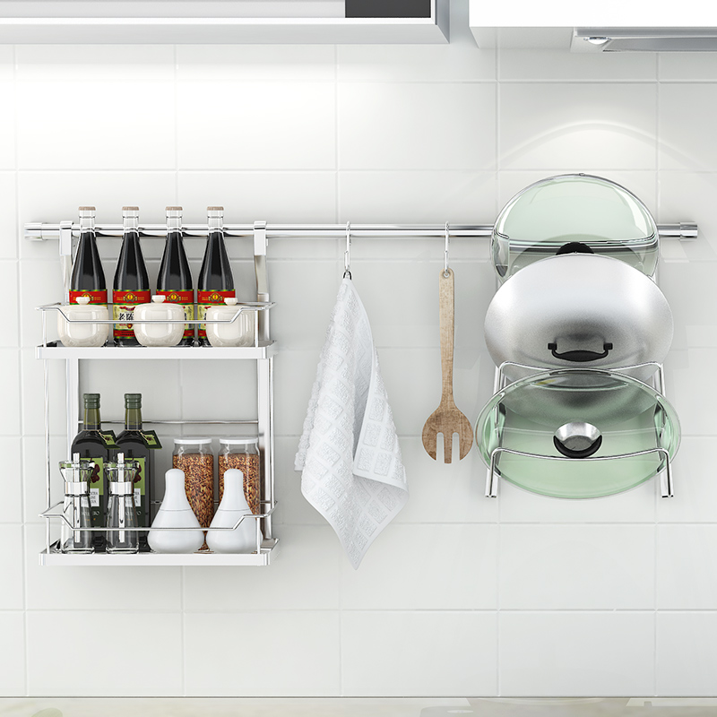 XM_448B roll up wall mounted dish drying revolving hanging spice rack