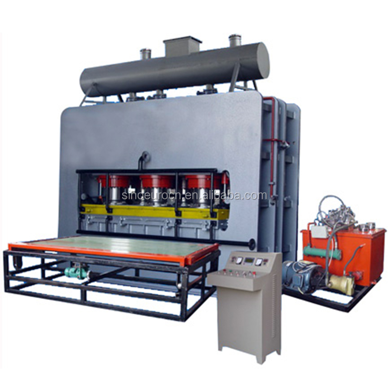 MDF board short cycle melamine laminating hot press machine