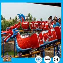 Outdoor Playground Equipment Kids Rides Mini Roller Coaster Sliding Dragon