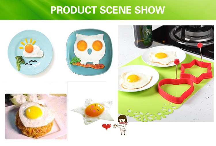 100% Food-grade healthy funny silicone egg holder