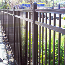 high quality metal picket fence with ring