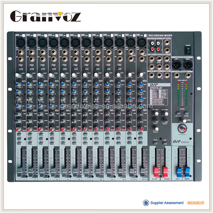 2015 professional design high quality 12 channel audio mixer