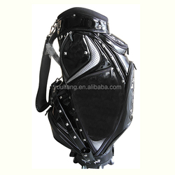 high quality golf bag with wheels black personalized portable pvc golf bags mini golf bag
