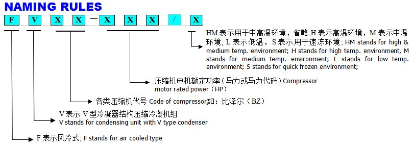 Cold Room Storage V Type Condenser Box Type Compressor Condensing Unit