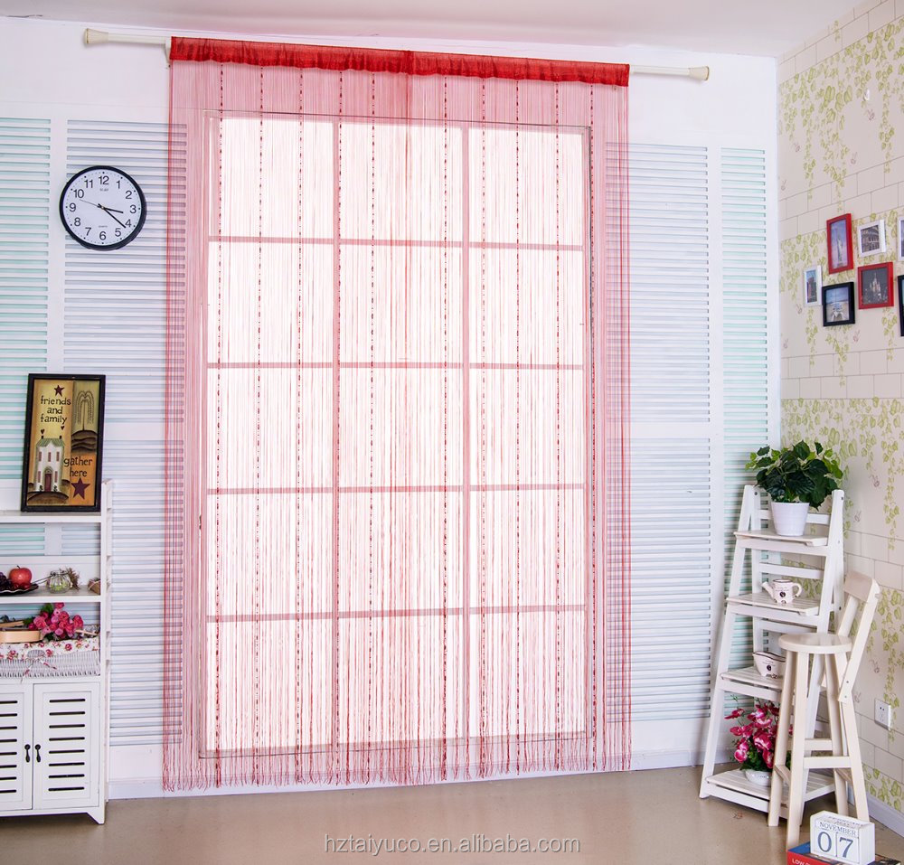 Unique fasionable coloeful decorative string curtain with bead
