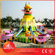 Fun swing ! hot selling rotary dancing bee kids outdoor amusement rides for sale