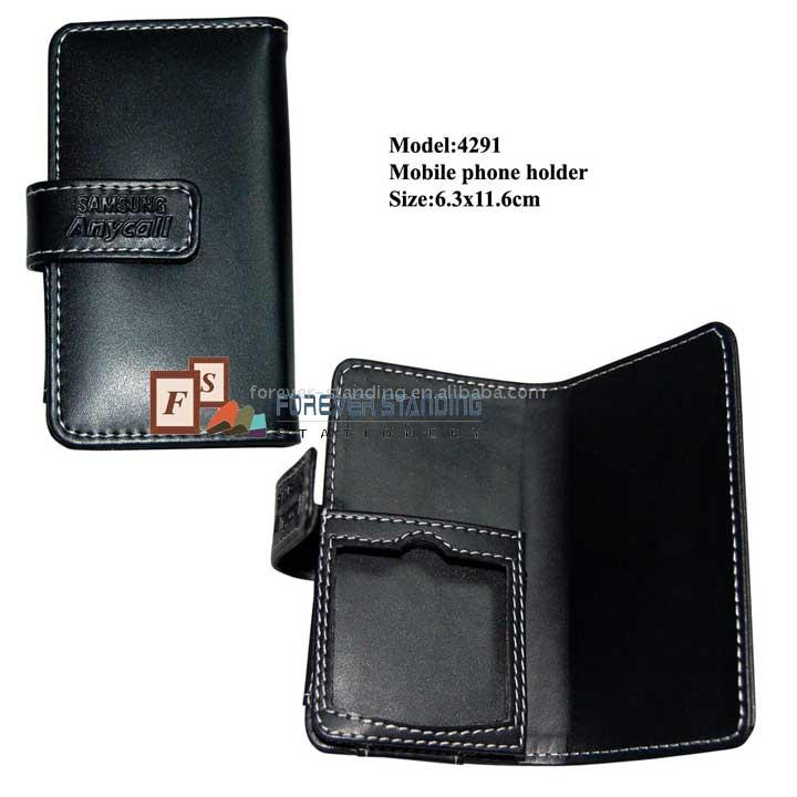 Luxury Business Imitation Leather Mobile Phone Holder (4291)