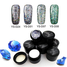 New arrival diamond shape nail polish gel glitter in UV gel