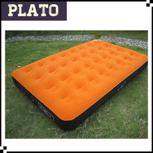 advanced flocking single inflatable mattress, outdoor folding double flocking air cushion bed