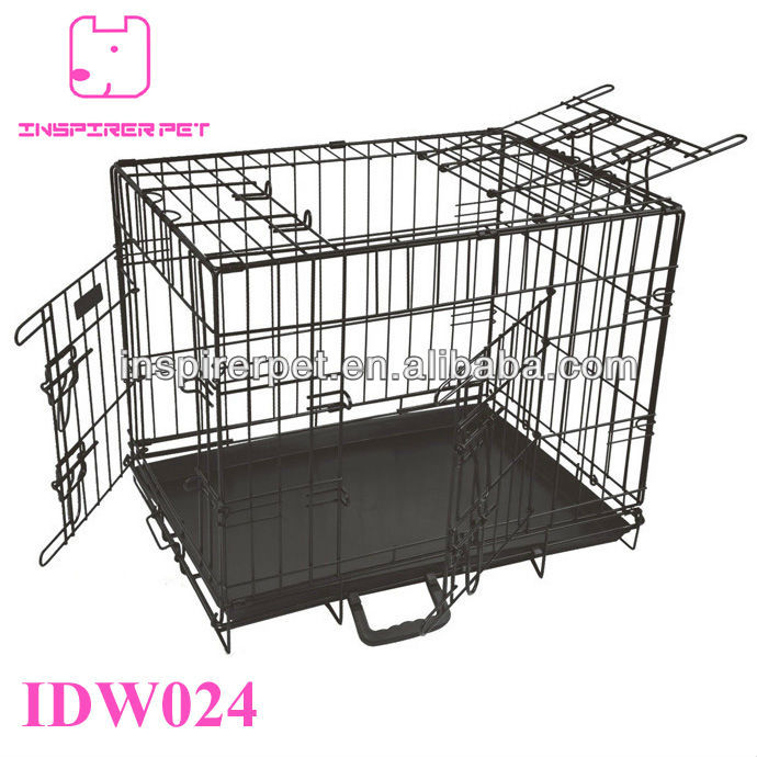 Wire Dog Crate Cage 3 Doors Top Open Wall Divider