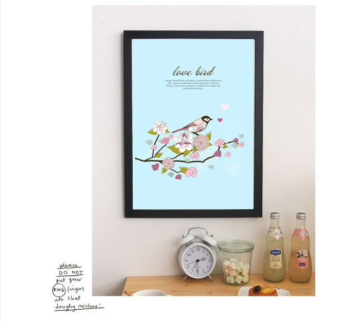 love birds home wall beautiful office wall painting J061