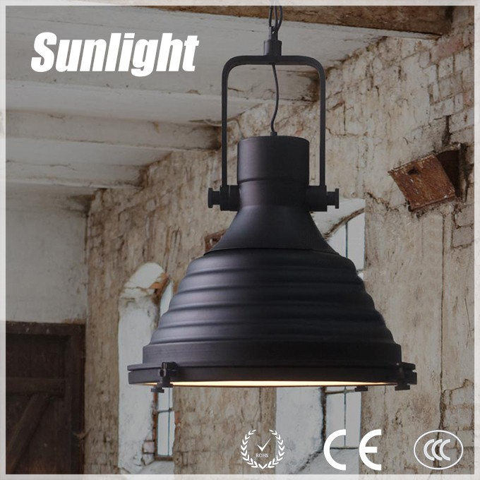 indoor vintage Classical antique wrought black metal retro Pendant Lamp/ industrial pendant light for project