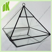 ~~~tabletop lantern display or can have soil added and house your small plants in wholesale geometric Thick Glass Candle Holder