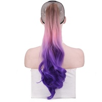 Fashion Long Curly Claw Ponytail Ombre Wig 3 Tones Ombre Ponytail Hair Extensions