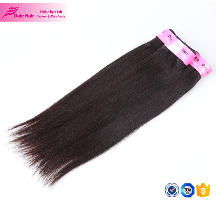 Dale Hair hairstyles medium length straight hair with high quality silk straight human hair for braiding