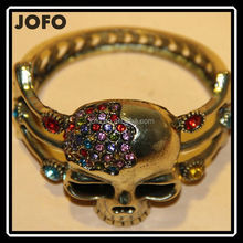 Fashion Jewelry 2015 New Antique Bronze Fashion Skull Bracelets& Bangle