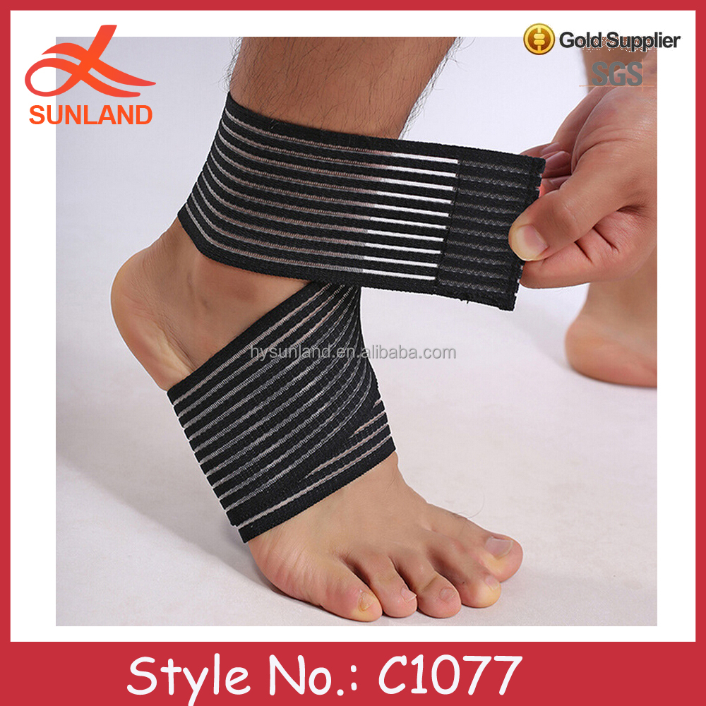 C1077 custom made adjustable ankle foot support strap band ankle brace
