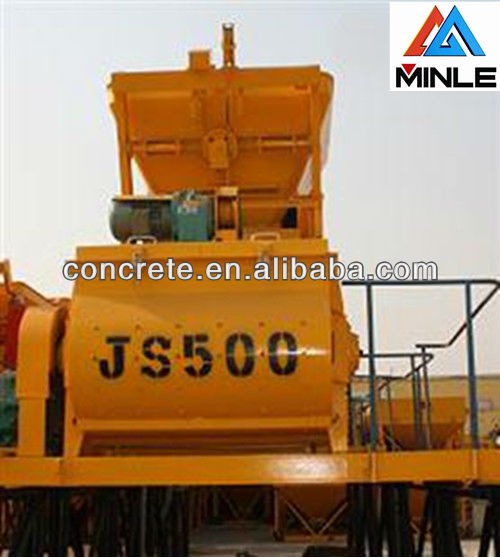 JS500 Twin Shaft Portable Concrete Mixer