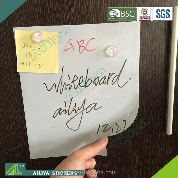 Bsci Customized Adhesive Removable Pvc Vinyl Thin Soft Flexible Fridge Magnet Roll Rubber Magnetic Whiteboard Sheets