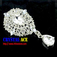Manufacture Wedding Flower Crystal Rhinestone Brooches