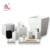 White Polyresin Hotel Bathroom Accessories Set Including Ice Bucket Tray