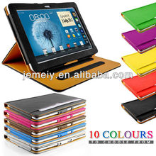 2013 new for samsung galaxy tab 2 10.1 wallet leather case