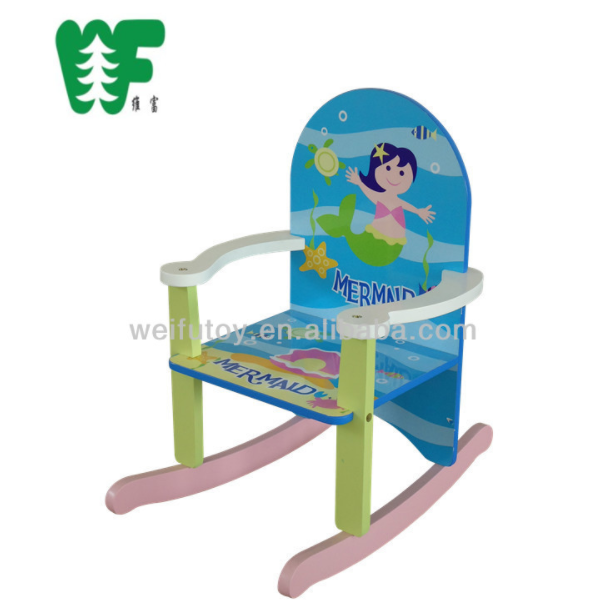 Wooden funiture rocking chair for baby girl
