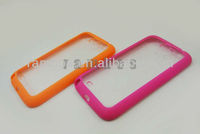 TPU Soft Frame PC Clear Mobile Phone Back Cover Case for Samsung Galaxy Note 2 II N7100