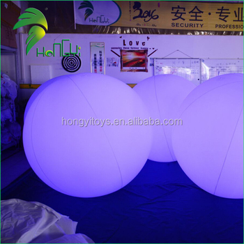 Popular Outdoor Helium Floating Lighting Sky Balloon / Commercial PVC Inflatable Nightlight Balls With RGB LED