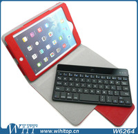 Hot Selling Detachable Ultra Thin Wireless Bluetooth Keyboard Leather Case For iPad Mini, For iPad Mini Case With Keyboard