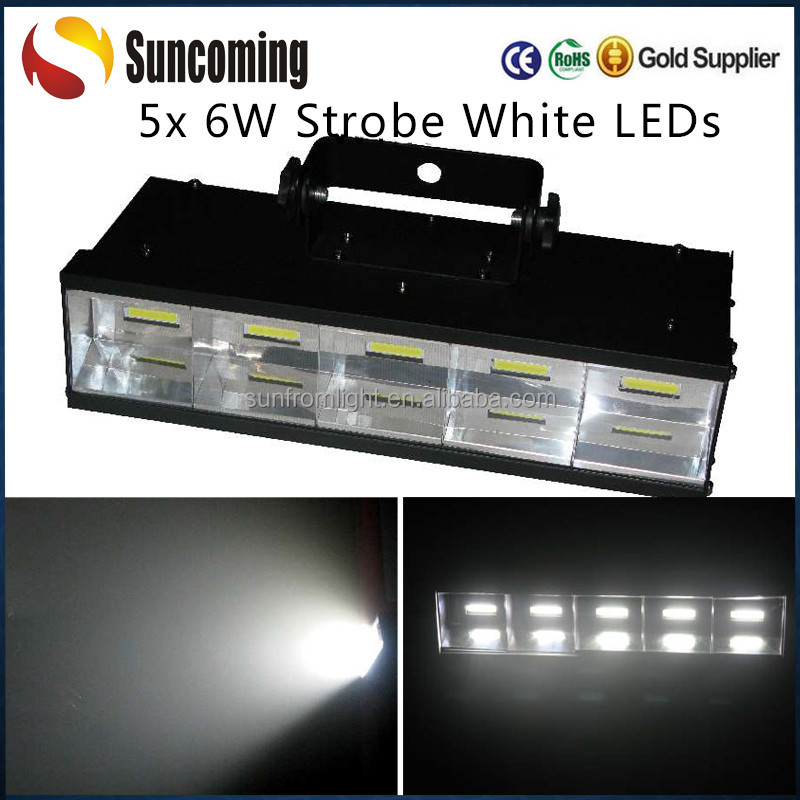 High Quality 5 x 6W Led Cool White Chasing Strobe Stage Lighting