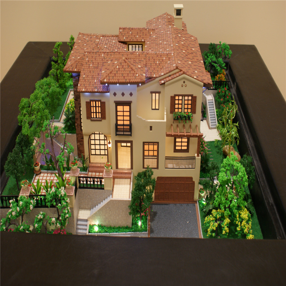 Model Miniature House,Real Estate Property For Sale/villa Model With Garden  Furniture