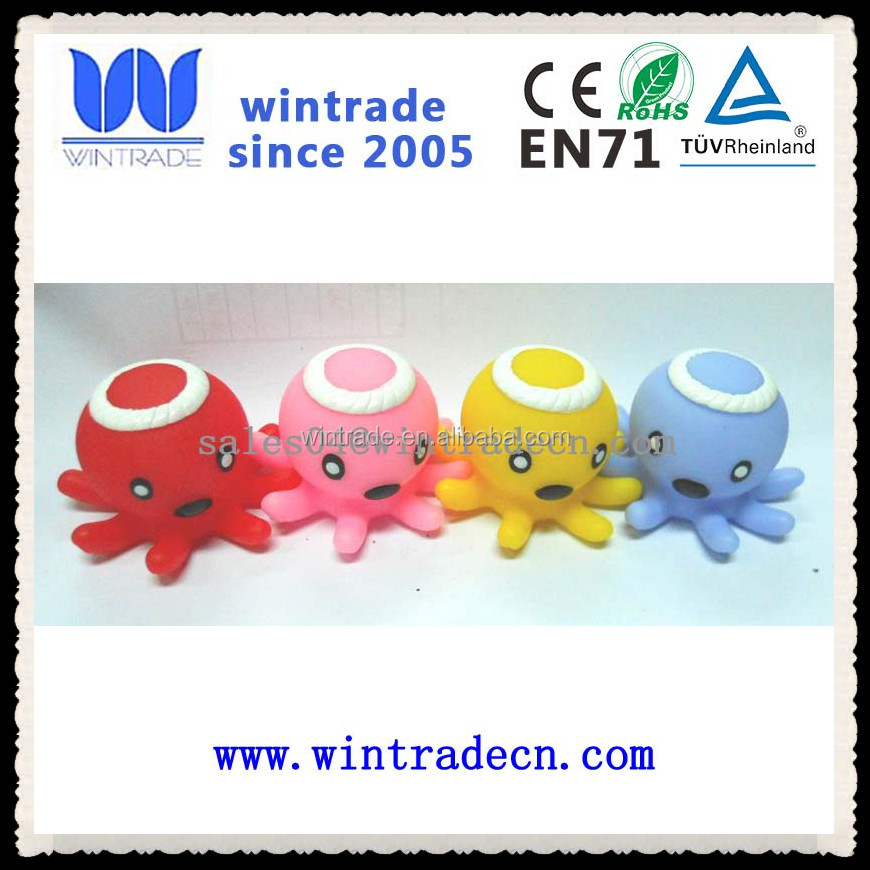 top quality LED flashing octopus bath toy