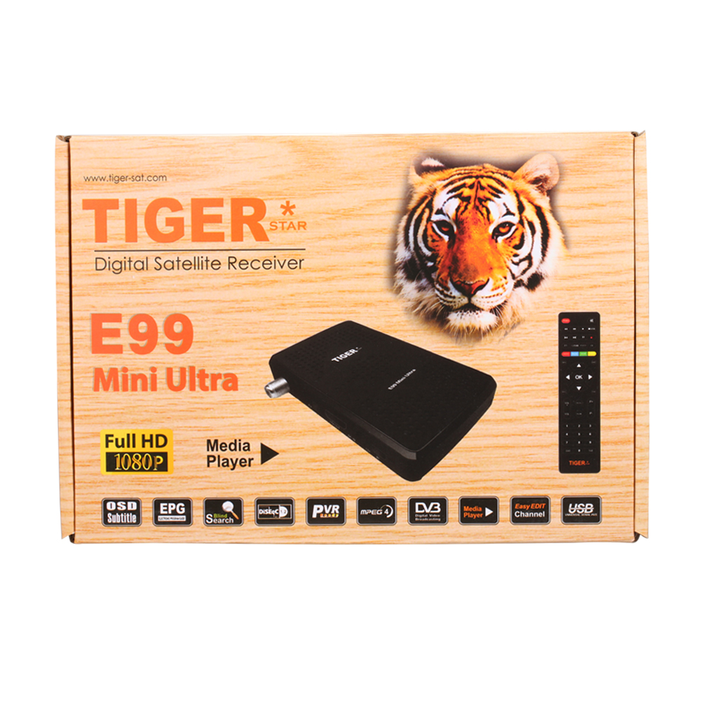 The Most Popular High Quality Supprt WIFI HD TV Set Top Box /Digital Satellite Receiver Tiger E99 Mini Ultra with PowerVu CCAM