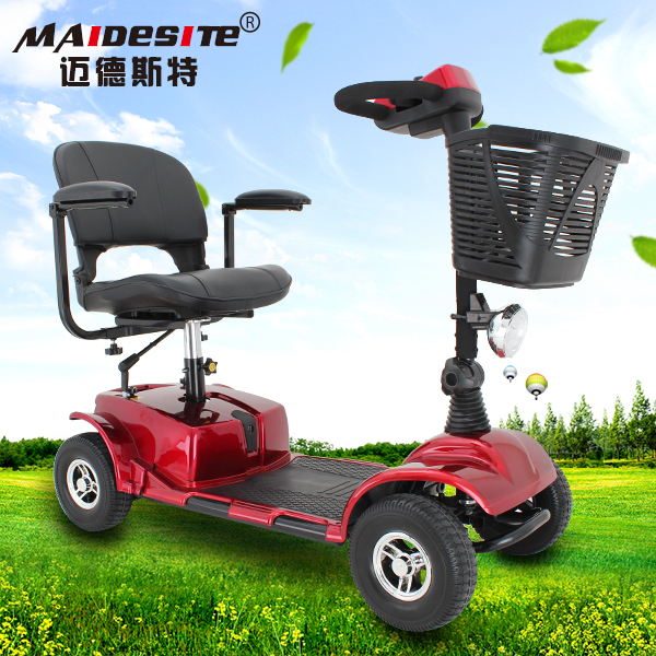 New designed durable folding cheap elderly 4 wheel mobility electronic scooter for sale