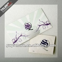 custom private design silver plating Paper Business card
