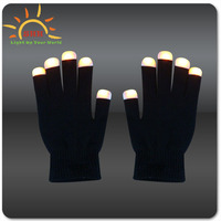 Cheap Hot Selling flashing Finger Light Gloves wholesale with led lights glow in the dark