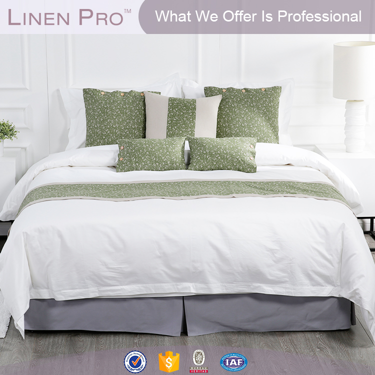 Superior quality linen hotel collection bedding,professional hotel bed linen supplier,star hotel linen supplier