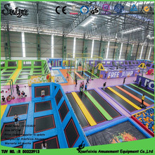 indoor cheap gta vice city play game trampoline park with foam pit for children