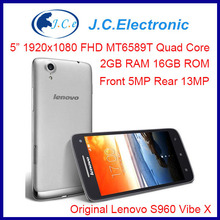 Original Lenovo S960 VIBE X Quad Core MTK6589 Smart Phone 5.0 Inch IPS 2GB 16GB Smartphone WCDMA 3G Mobile Phone Android 4.4