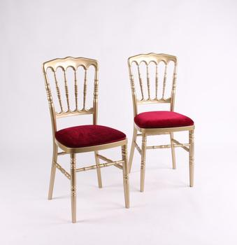 hot sale gold plastic napoleon chair for event from china factory