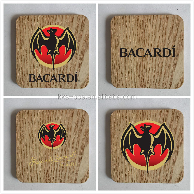 nature wooden coaster set of 4 with high quality for promotions